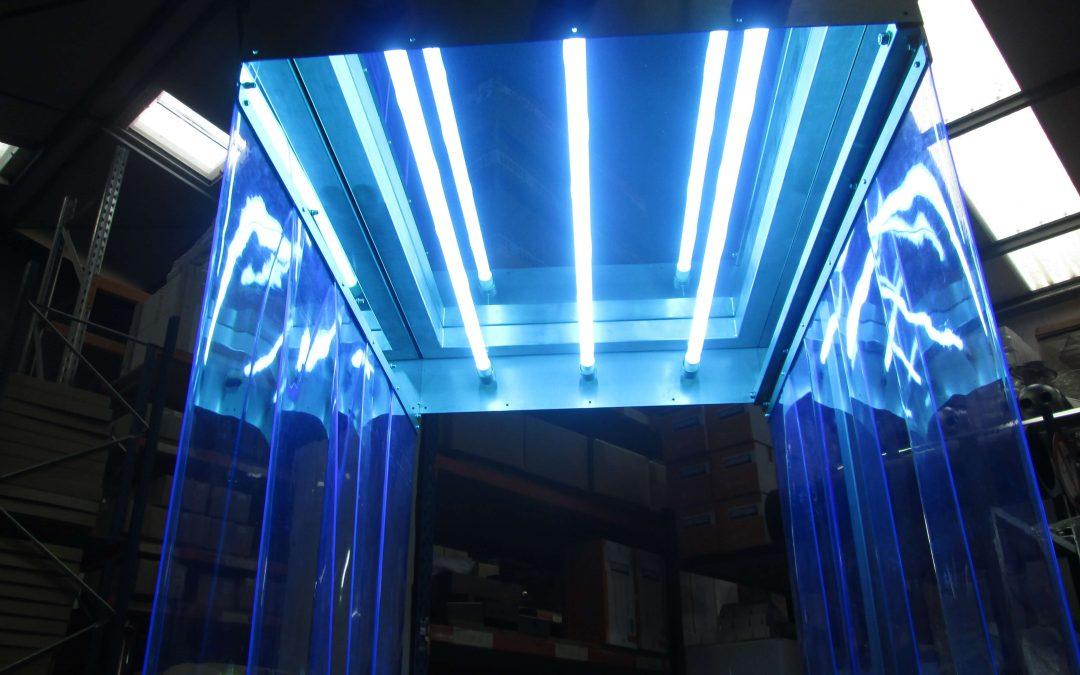Lámparas germicidas UV para desinfección de aire y superficies y agua.