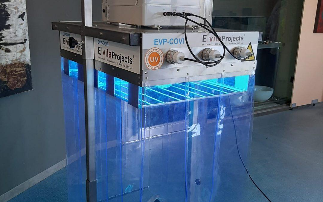 Desinfección ultravioleta de E. Vila Projects para eliminar el coronavirus