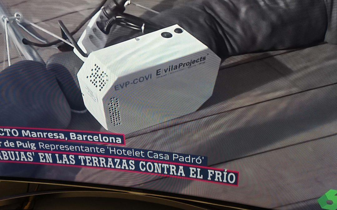 El Hotelet Casa Padró de Manresa estrenó iglús contra la Covid 19 desinfectados con equipos de E. VILA PROJECTS.